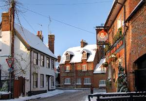 Old Chesham in the snow
