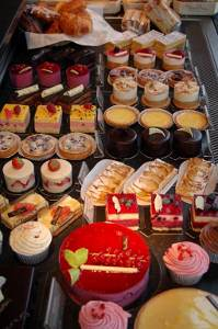 Delicious cakes on display in Henley